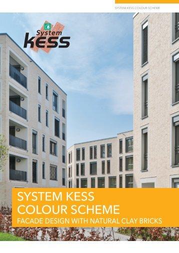 Facade design with natural clay bricks - System kess