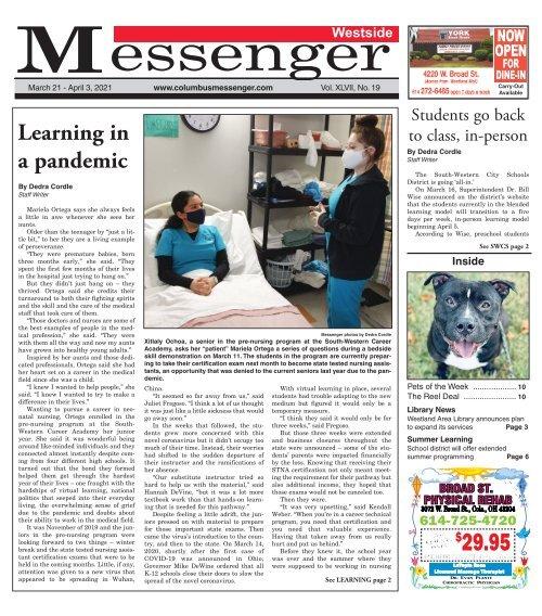 Westside Messenger - March 21st, 2021