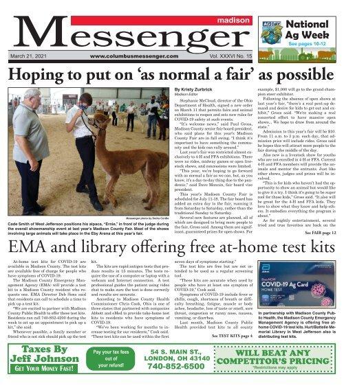 Madison Messenger - March 21st, 2021