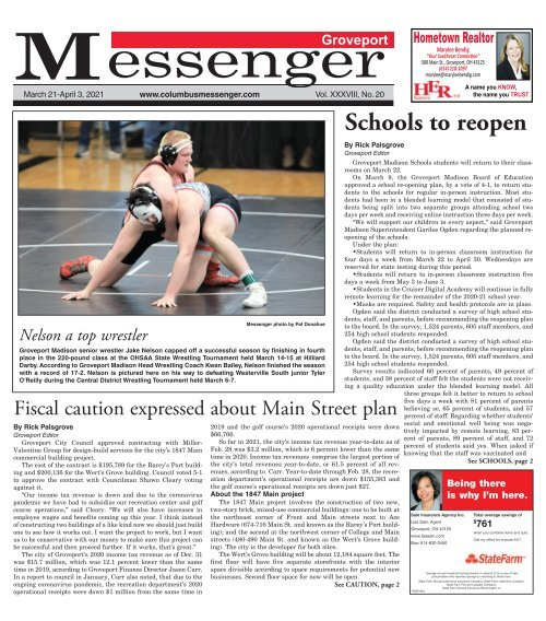 Groveport Messenger - March 21st, 2021