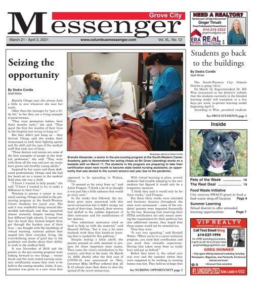 Grove City Messenger - March 21st, 2021