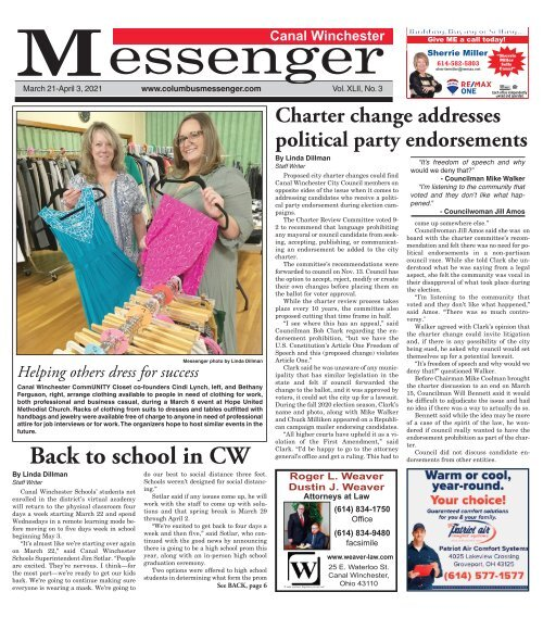 Canal Winchester Messenger - March 21st, 2021