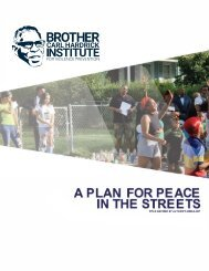 A PLAN FOR PEACE IN THE STREETS
