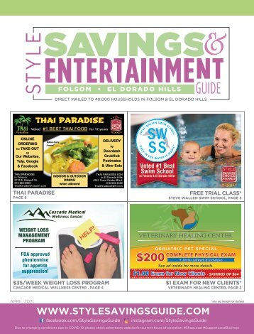 Savings and Entertainment Guide - April 2021