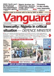 23032021 - Insecurity: Nigeria in critical situation — DEFENCE MINISTER