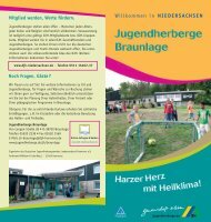 PDF zum Download - Jugendherbergen in Niedersachsen