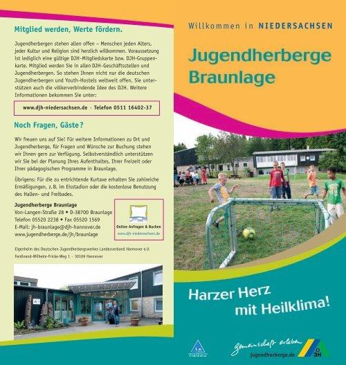 Niedersachsen Karte Pdf.Pdf Zum Download Jugendherbergen In Niedersachsen
