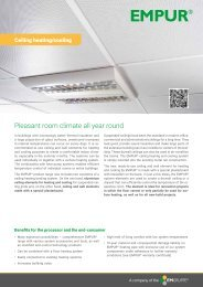 Sales flyer Ceiling heating and cooling