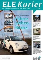 ELE Kurier 01/2012 - Emscher Lippe Energie GmbH