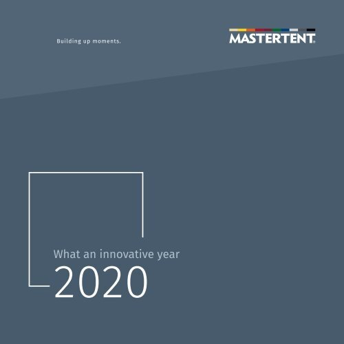 Mastertent - Corporate report 2020 english