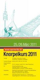 Knorpelkurs 2011 - Abteilung und Poliklinik für Sportorthopädie