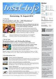 Donnerstag, 16. August 2012 - Langeoog Online