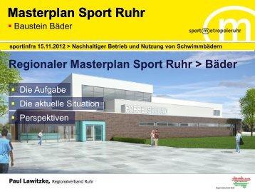 Der Masterplan Sport Ruhr - Sportinfra