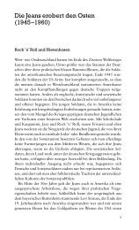 Die Jeans erobert den Osten (1945–1960) - Ch. Links Verlag