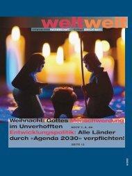 WeltWeit 6/2020 - Zeitschrift für Entwicklungszusammenarbeit und globale Gerechtigkeit