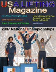 USA LIFTING Magazine Page 1 of 29 - Weightlifting On-Line Magazine
