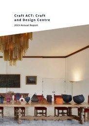 Craft ACT: Craft + Design Centre: 2019 Annual Report