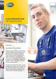 ELEKTRONIKER M/W BetrieBstechnik - Hella