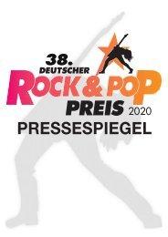 38.  Deutscher Rock & Pop Preis 2020 – Pressedokumentation