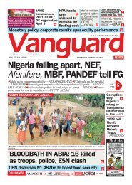 25032021 - Nigeria falling apart, NEF, Afenifere, MBF, PANDEF tell FG