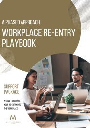 Workplace Re-Entry Playbook 2021