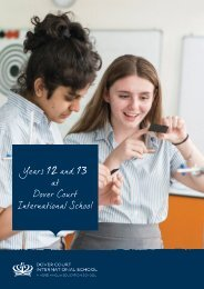 Years 12 and 13 at Dover Court International School