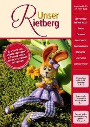Unser Rietberg Ausgabe 25 vom 24. März 2021