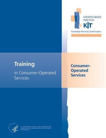 Training In Consumer-Operated Services - SAMHSA Store ...