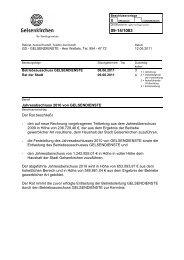 BV Jahresabschluss 2010 - Gelsendienste