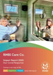 RMBI Care Co. Impact Report 2020 - Our Covid Response
