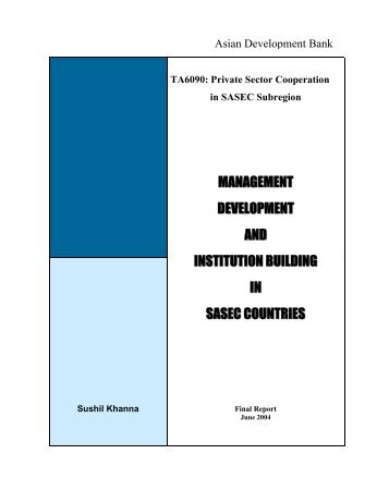 TA6090: Private Sector Cooperation in SASEC Subregion