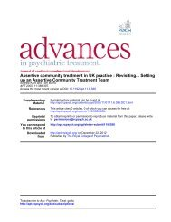 Assertive community treatment in UK practice - Advances in ...