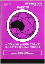 ANZSNM Newsletter Sept 1988 Vol 19 No 3