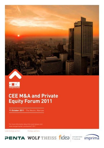 CEE M&A and Private Equity Forum 2011 - Mergermarket