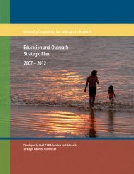 Education and Outreach Strategic Plan 2007 – 2012 - Ucar