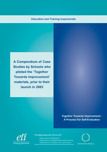 Case Studies for Together Towards Improvement - Education and ...