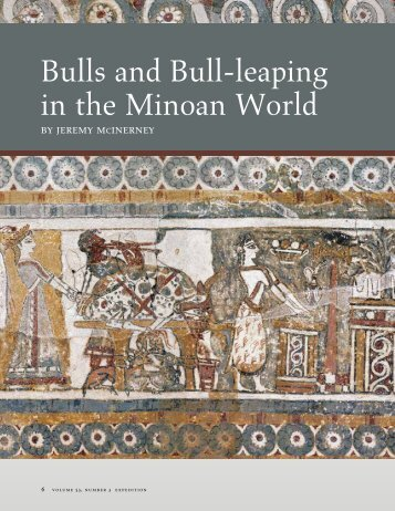 Bulls and Bull-leaping in the Minoan World - University of ...