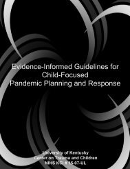 Evidence-Informed Guidelines for Child-Focused Pandemic ...