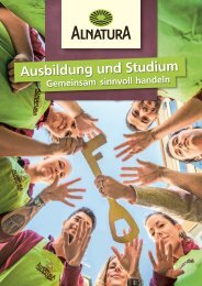 Alnatura Ausbildung und Studium