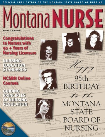 95th BIRTHDAY MONTANA STATE BOARD OF ... - Montana DLI