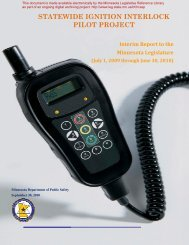 Statewide Ignition Interlock Pilot Project: Interim Report to