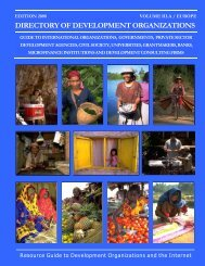 directory of development organizations - Chede International ...
