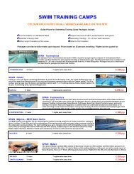 SWIM TRAINING CAMPS - TFT Swimming Training Camps
