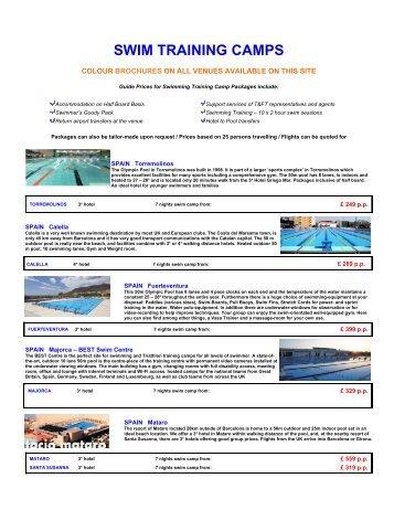 SWIM TRAINING CAMPS - TFT Swimming Training Camps