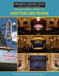 2009 Year end review - Hennepin Theatre Trust