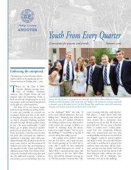 YFEQ Newsletter Summer 09 - Phillips Academy, Andover