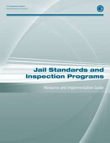 Jail Standards and Inspection Programs, Resource - National ...