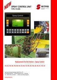 SPRAY CONTROL UNIT - Sprimag