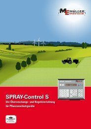 SPRAY-Control S - Müller Elektronik