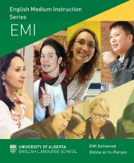 UAlberta ELS English Medium Instruction Series Brochure 2021